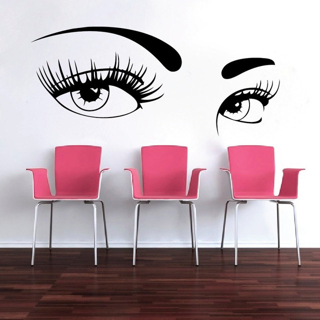 Aliexpresscom Buy Newly Arrivved Salon Pretty Girls Beautiful - Vinyl stickers designaliexpresscombuy eyes new design vinyl wall stickers eye wall