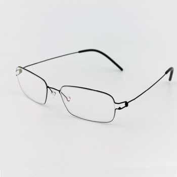 Square glasses frame ultralight myopia eyewear men Pure Hand made eyeglasses Optical Frame oculos de grau with original case - DISCOUNT ITEM  51% OFF Apparel Accessories