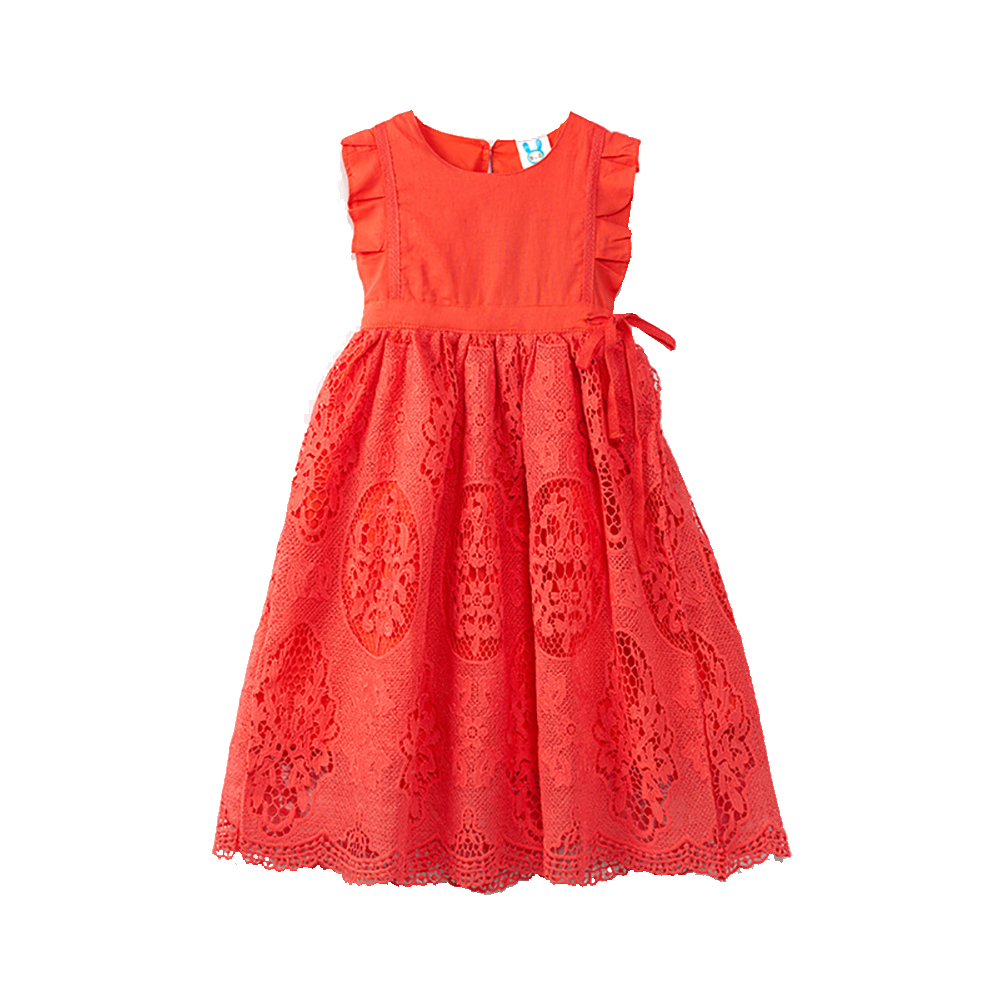 B-1631 New Fashion Wedding Birthday Party Casual Girls Dress Summer Lace Princess Dresses 4-13T Teenager Kids Evening Ball Gowns 2018 party girls dresses lace bow wedding birthday dresses for girls teenager ball gowns princess costume girl frock bride 6 15y