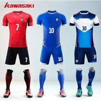Kawasaki Thương Hiệu 5 cái/lốc Tùy Chỉnh Người Hâm Mộ Bộ Bóng Đá Jersey Mens Top & Ngắn Đội Uniform Thực Hành Đào Tạo Brazil Phù Hợp Với Bóng Đá