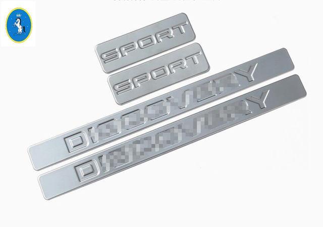 More Fashion ! Accessories For Land Rover Discovery Sport 2015 2016 2017 Stainless Steel Scuff Plate Door Sill