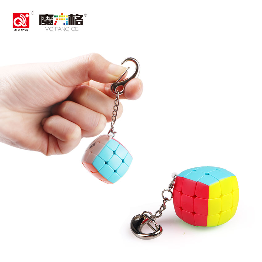 Qiyi Magic Cube Keychain სიჩქარე Puzzle Mini Cube 3x3x3 - ფაზლები - ფოტო 2