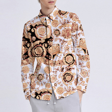 Classical Luxury Palace Crown Print Shirt Men Brand New Mens Dress Shirts Casual Business Slim Fit Long Sleeve M-XXL