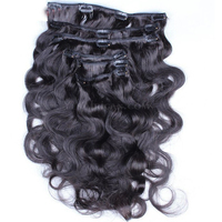 Body Wave Clip In Human Hair Extensions 7Pcs/120G Full Head Brazilian Human Hair Clip In Extensions Natural Hair Comingbuy Remy