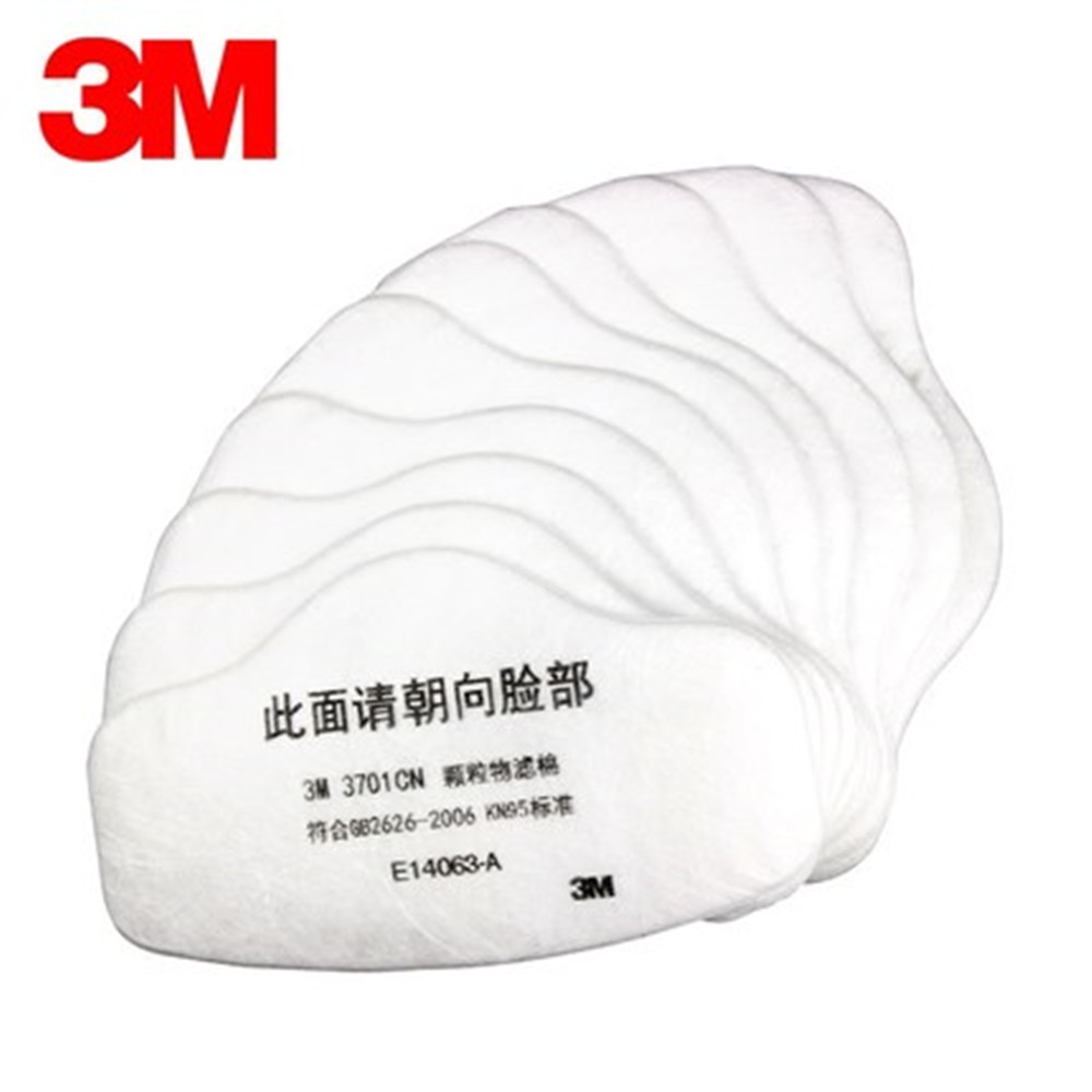 100Pcs 3M 3701CN Particle Filter Cotton Pad KN95 Dust Mask Respirator Filter Cotton Thick Industrial Dust Filter Paper