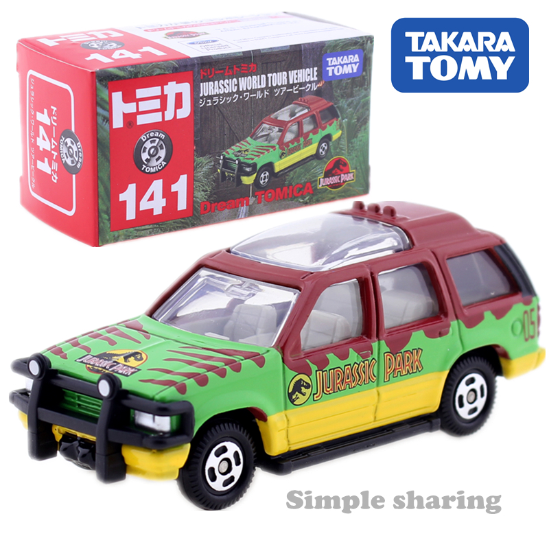 Tomica Dream 141 Jurassic World Tour SUV Takara Tomy AUTO CAR Motors Sport Utility Vehicle Diecast Metal Model New Toys