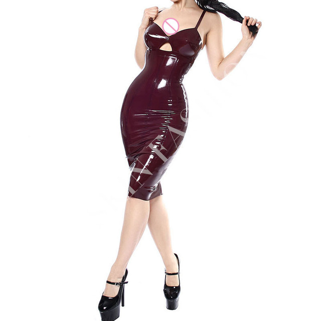 e4428360605b4d Gratis verzending! vrouwen latex jarretel jurk mode strakke rubber dragen
