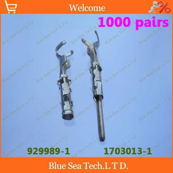 1000 pairs 1703013 1 929989 1 Male female Crimp terminal Connectors AMP car terminals for deutsch