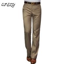 Men's Suit pants New flared pants Male Summer Straight Suit pants British leisure Free