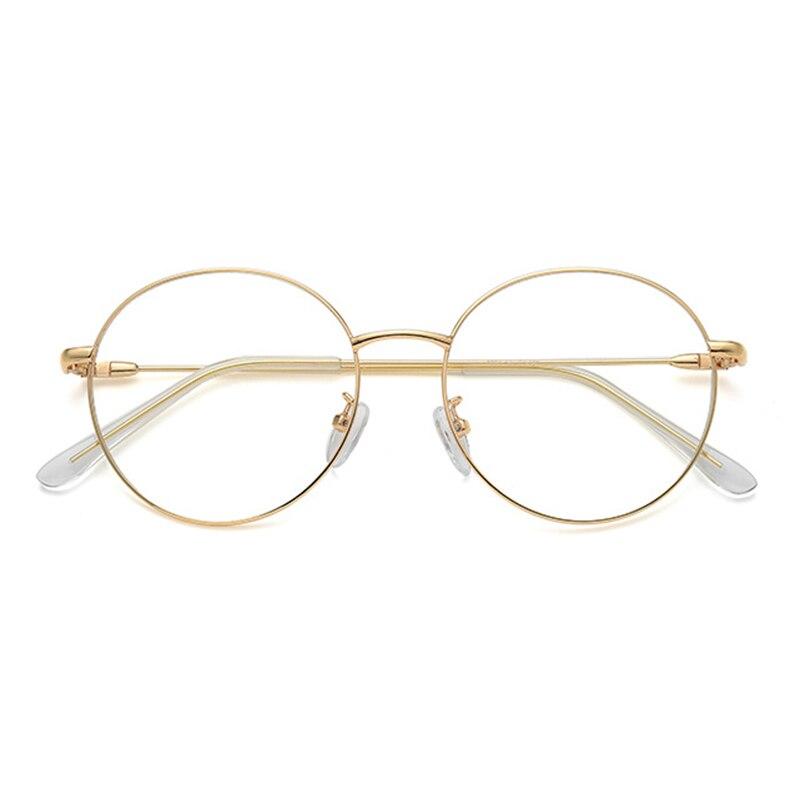 Myopie Photochrome Frauen Runde Proof Klar Blau Kurzsichtig Computer Rezept Gläser Brille Licht Legierung Für Männer ApwxB0qIx