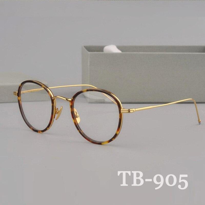 Haute qualité ronde en forme Acétate 905 lunettes cadre Rétro lunettes avec étui exquis myopie lecture lunettes Oculos