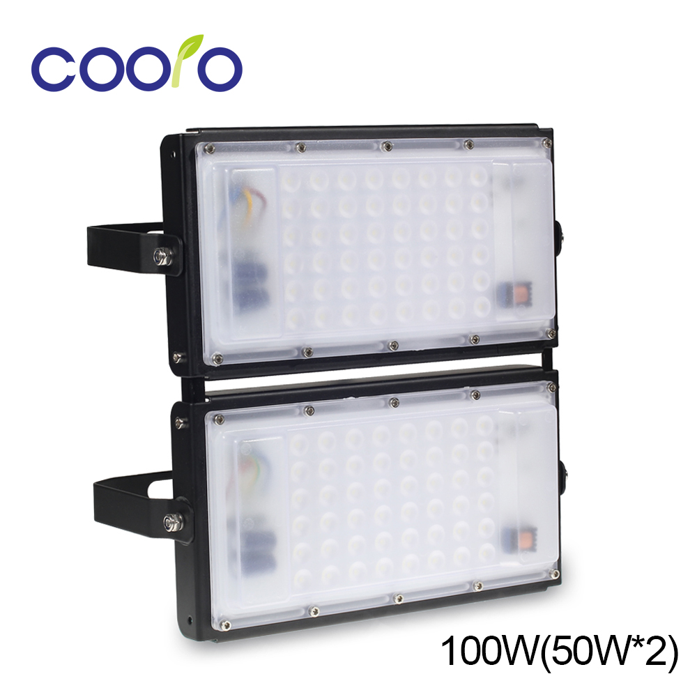 NEW 100W Led Flood light AC 220V Led Floodlight Spotlight Reflector Outdoor IP65 waterproof 4500LM White ultrathin led flood light 100w led floodlight ip65 waterproof ac85v 265v warm cold white led spotlight outdoor lighting