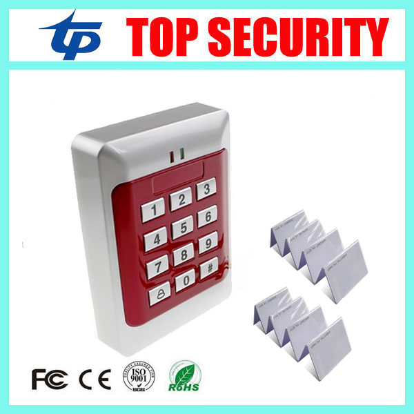 Standalone RFID EM card door access control system 1000 users proximity card 125KHZ ID card access control with 10pcs card hot sale 1000 card capacity proximity card 125khz em card door access control system without software single door control