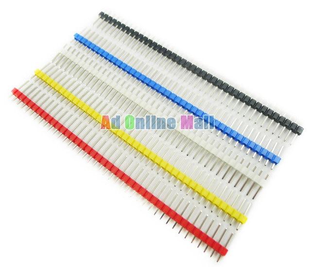 100PCS/LOT 40P 2.54mm Male Color Single Row Pin Header