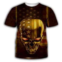 PLstar Cosmos gold Skull/American flag 3D Print Hoodie/Sweatshirt/Jacket/shirts Men Women Tees hip hop apparel plus size XS-7XL