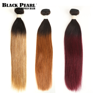 2 Tone Color Ombre Brazilian Straight Hair Bundles 1/3/4 Pcs Non Remy 100% Human Hair Bundles T1B/27# T1B/30# T1B/99J#