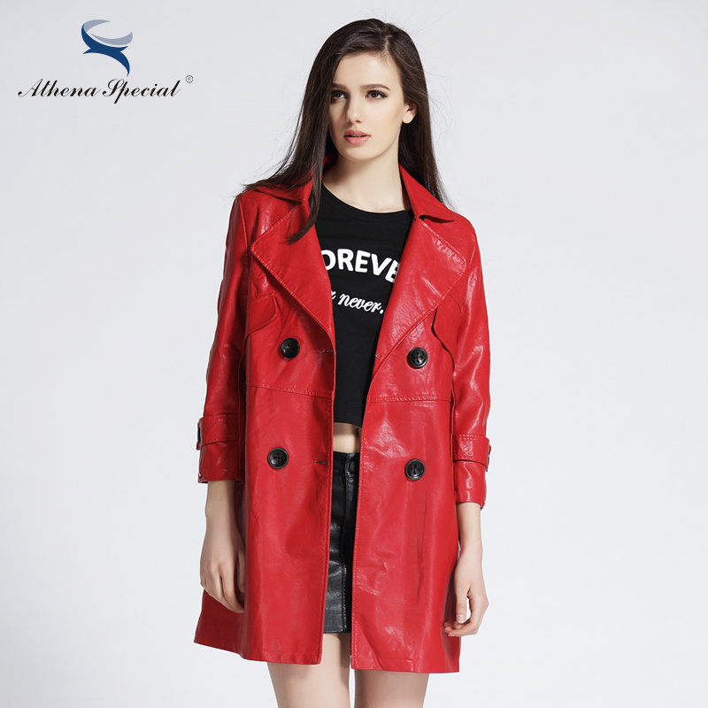 Online Get Cheap Womens Leather Trench Coat Sale -Aliexpress.com ...