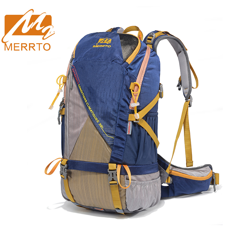 2018 Merrto 30L Hiking Camping Sports Backpacks Waterproof Light Weight Outdoor Bags Travel Backpacks Free Shipping 19831