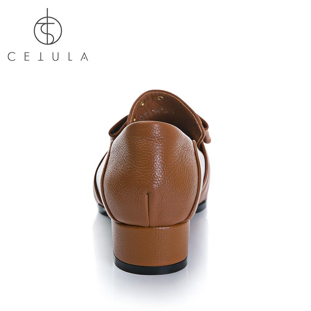 Cetula 2018 ручной работы S/S полный зерна кожи бронзовые шпильки и антикварные жемчужина Би Шарм Для женщин на лоферы футов. квадратный носок