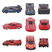 Metal Diecast Toy Vehicle Alloy Car Toy Super Hero Style 1:64 Mini Car Model Truck Play Set Gift for Boys Girls Kids