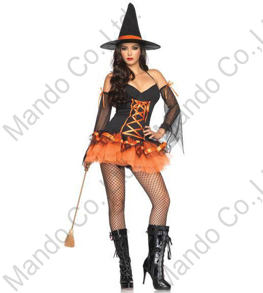 Yellow Witch Dress with Hat Adult Women Costume for Cosplay and Halloween Party