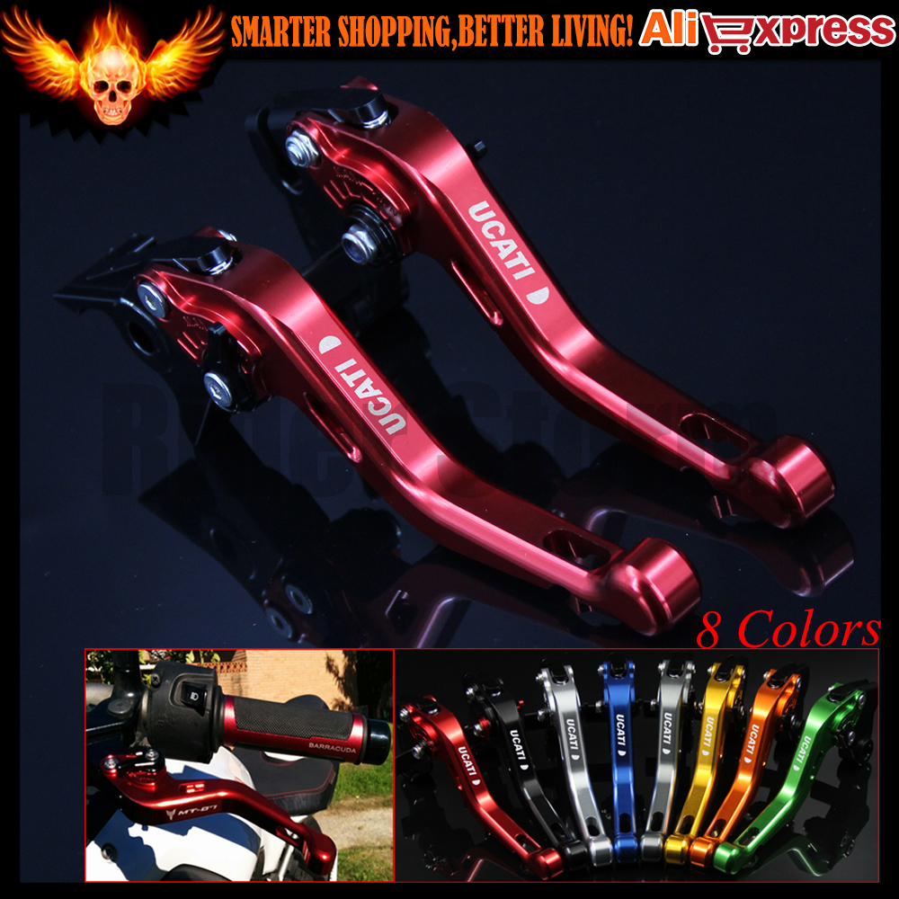 ФОТО 8 Colors New CNC Aluminum Red Motorcycle Short Brake Clutch Levers for Ducati S4RS 2006 2007 2008