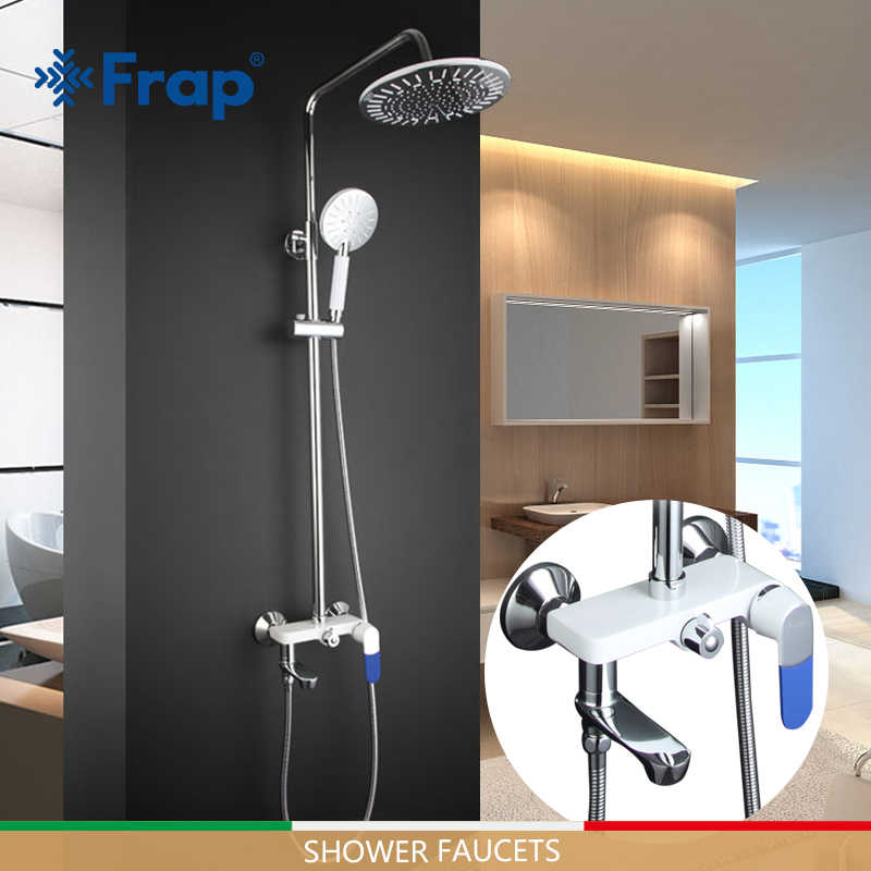 FRAP ระบบ chrome bath ก๊อกน้ำชุดแฟชั่นห้องน้ำก๊อกน้ำเย็นและน้ำร้อนปรับ tapware