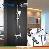 Nuevo Sistema de ducha FRAP grifo de baño cromado conjunto de ducha de baño de moda grifo