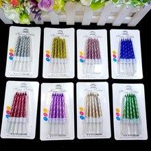 50 doos Droom kleurrijke kleur Kaars Cake Party Verjaardag Party Festival Supplies Mooie Verjaardag Kaarsen voor Keuken Bakken Geschenken