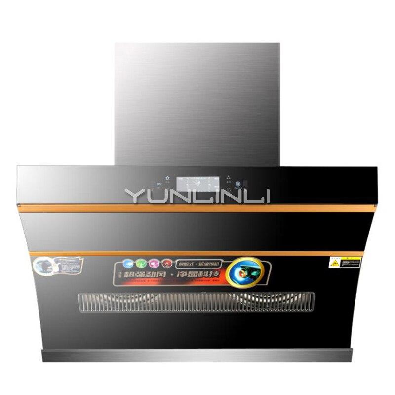 Ventilateur de cuisine de Type d'aspiration latérale de hotte de gamme de ménage 180 W contrôle tactile Intelligent + détecteur de mouvement échappeur de fumée GB027