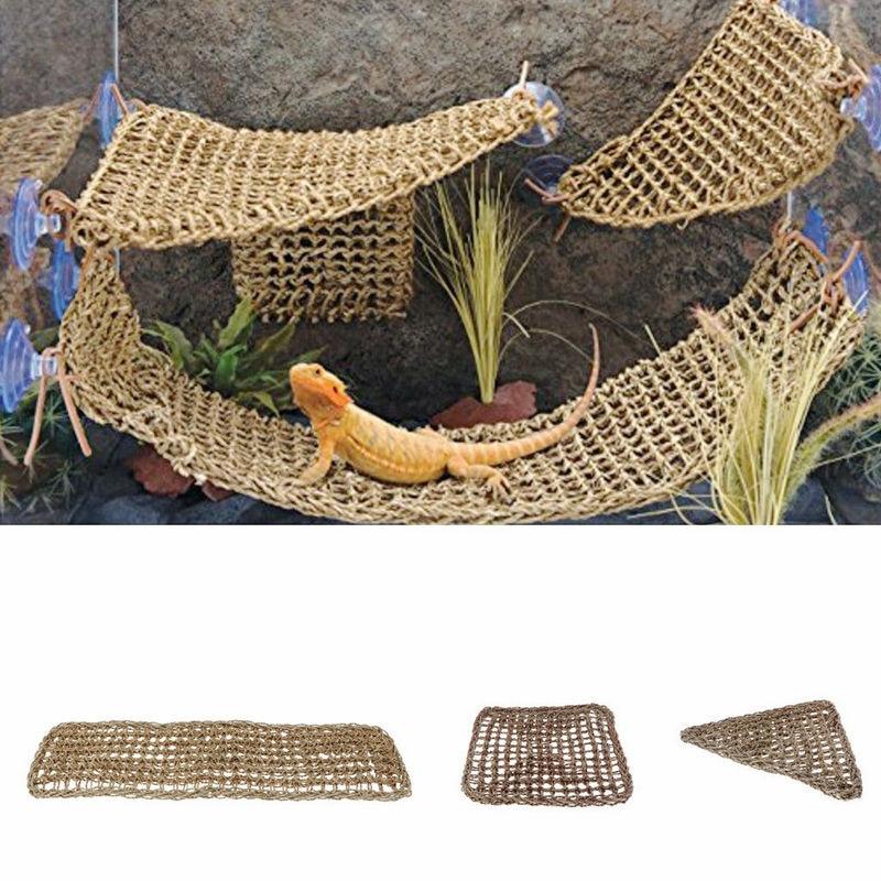 Reptile Platform Hammock Lizard Lounger Hammocks Geckos Hanging Net Tank Decor Ожерелье