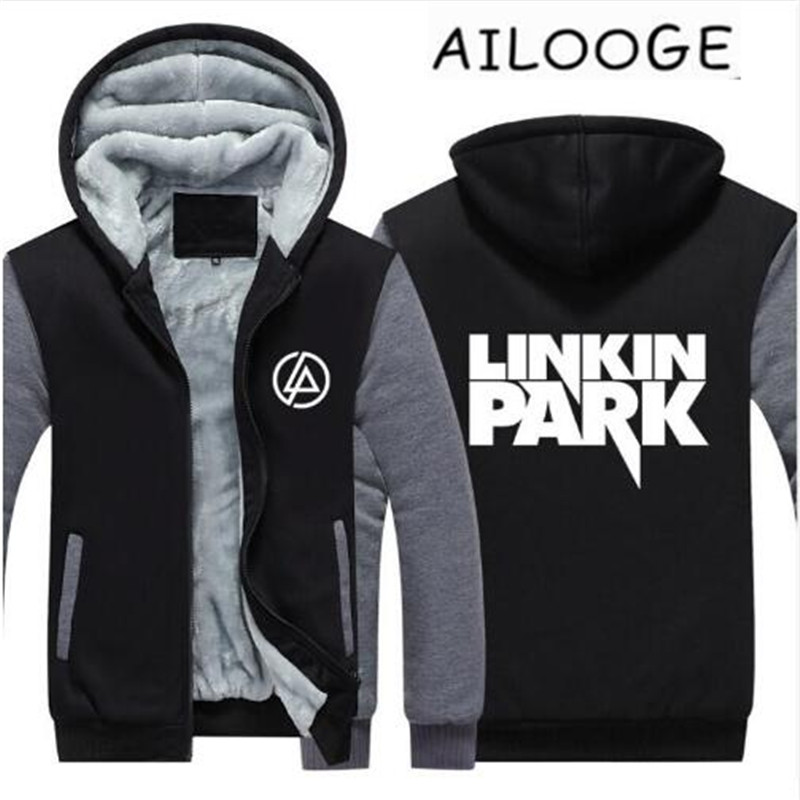 Polaire black 2018 Gray Éclair Chaud Fermeture Épaisse Sweatshirts Manteau À Linkin Jour Veste Black Park blue Sweat Dark red UqIx1wHq