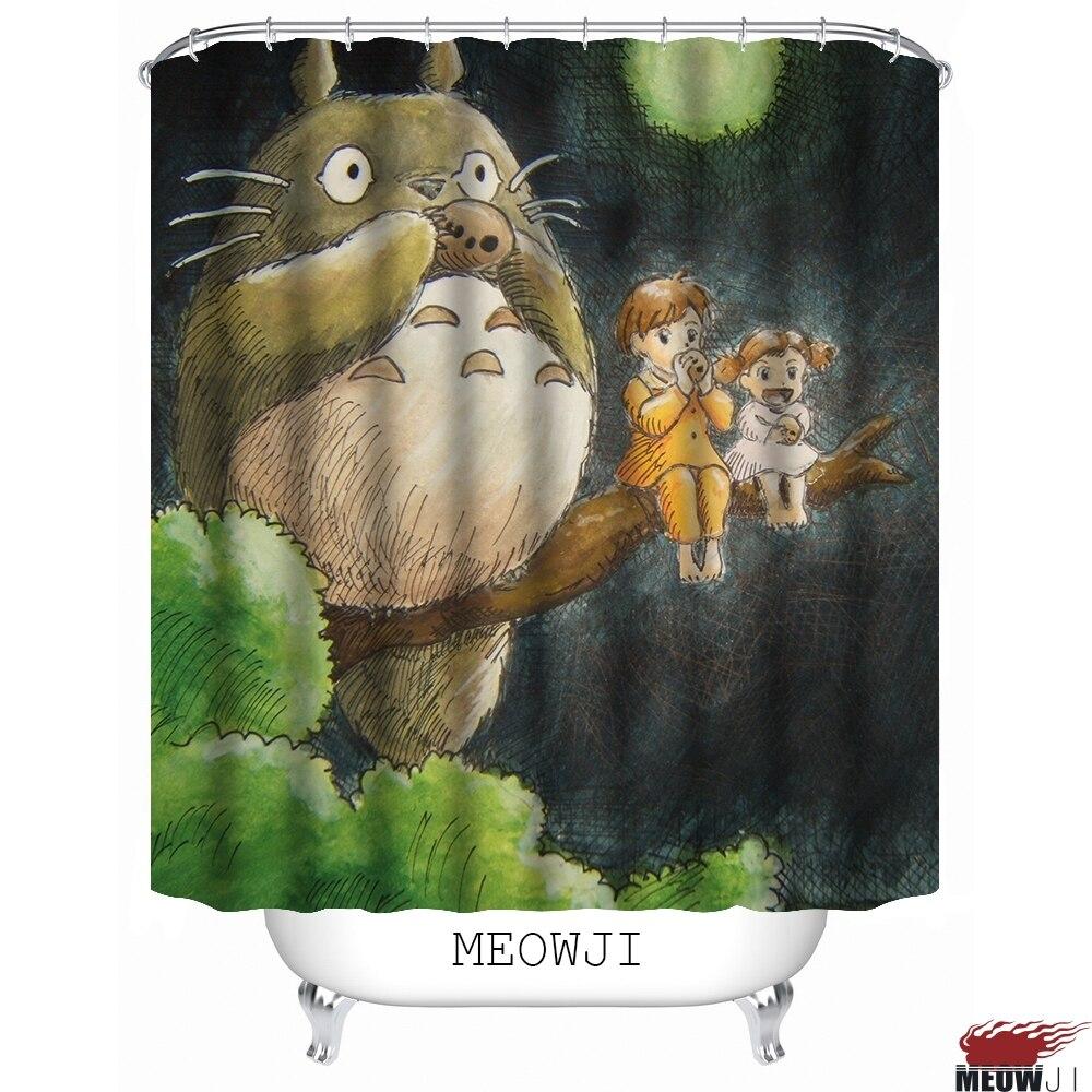 lovely totoro cute kids cartoon anime child girl boy custom shower curtain bathroom decor various sizes