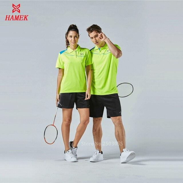 7149cf5e5fd Top qualité hommes femmes badminton chemise vêtements tennis de table polo  t shirt de sport formation