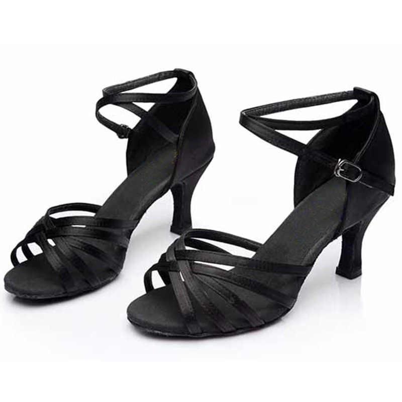 Großhandel Marke Neue frauen mädchen der dame Ballsaal Latin Dance Schuhe Tango salsa party Tanzen Schuhe 5CM und 7CM ferse