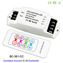 BC-361-CC DC12V-48V 350mA 700mA constant current Output Led RGB Strip Controller with RF remote Wireless RGB Dimmer for LED Lamp