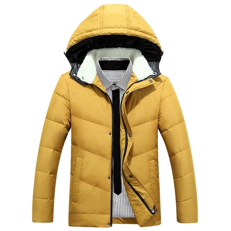 Erkekler Sıcak Aşağı Parkas Uzun Kollu Erkekler Kış İnce aşağı ceket Ince Katı Kapşonlu Erkekler casual Kaban 7 Renk Yüksek kalite