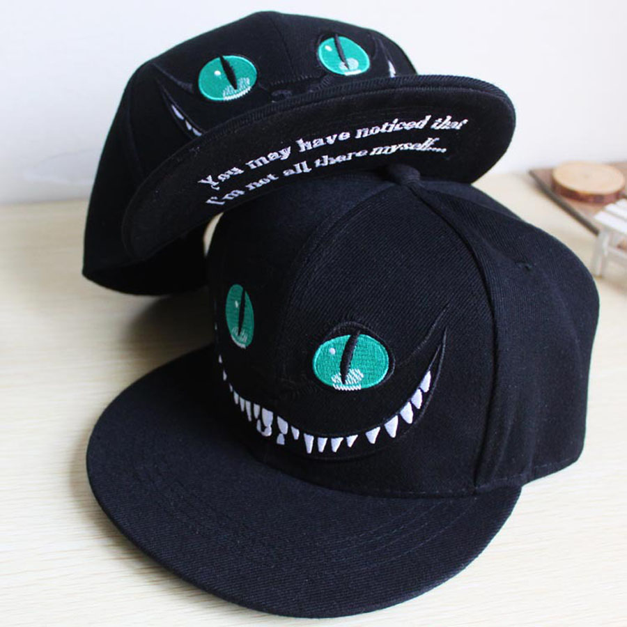 58286dd77c0c4 2015 Alice in Wonderland font b Cheshire b font font b Cat b font cartoon  snapback. gorras new ...