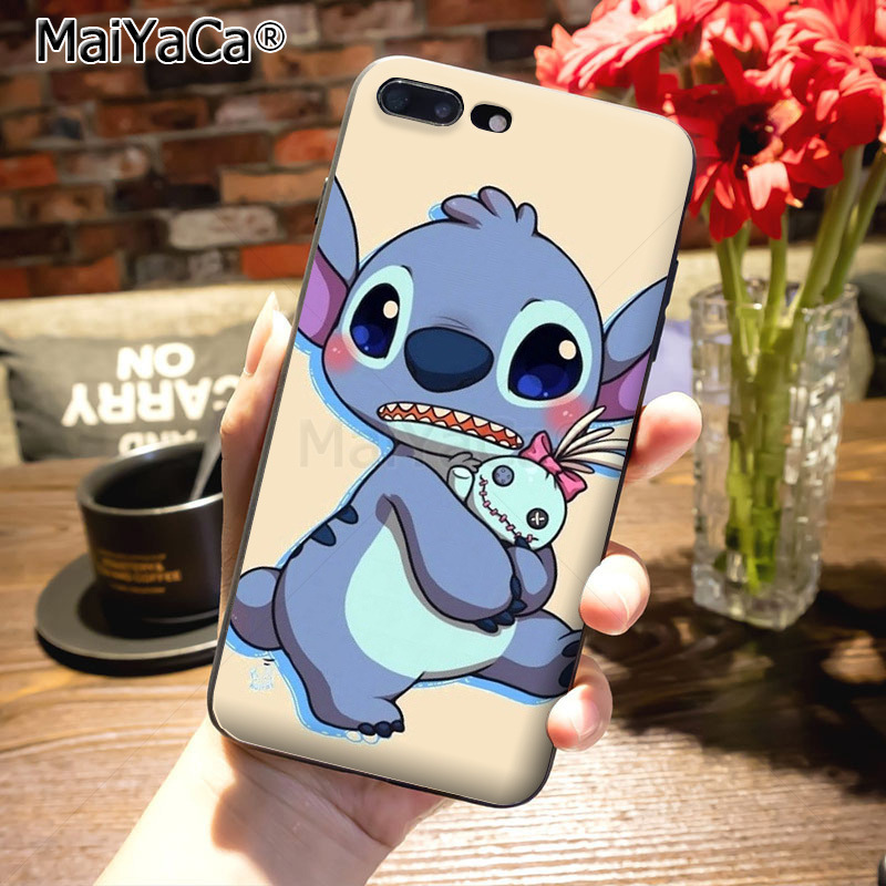 MaiYaCa cartoon Lilo Stitch Novelty Fundas Phone Case Cover for iPhone 8 7 6 6S Plus X 10 5 5S SE 5C case Coque