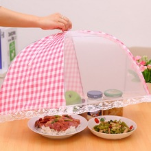 Kitchen Accessories Mesh Food Cover Anti Fly Mosquito Umbrella Hygiene Grid Dish Folded Cover Practical Hygiene все цены