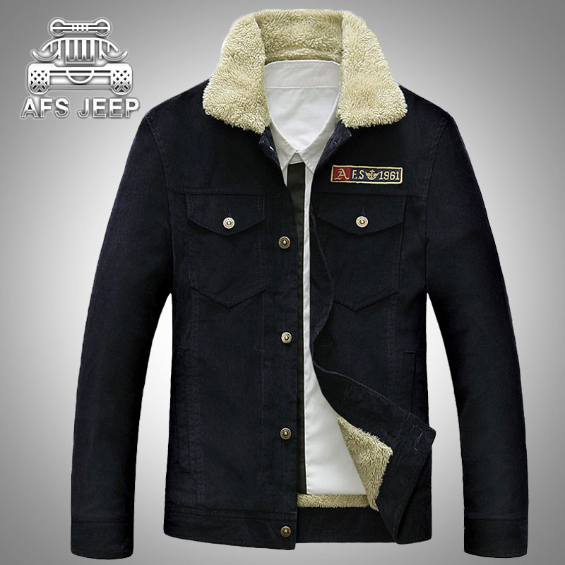 2016 Winter Brand Jacket Men Slim Fit Casual Fleece Warm Pocket Turn Down Collar Man Cotton Plus Size Casual Coats Down Jacket