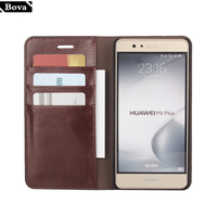 Deluxe Wallet Case For Huawei Ascend P9 Lite Genuine Cow Leather Case Huawei P9 Lite 5