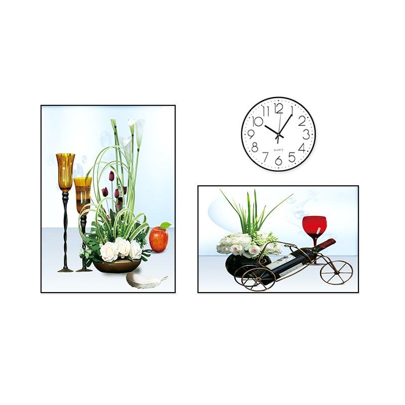 Распродажа Европа Klok часы декоративные вешается на стену простой скандинавский диван фоновые стеновые сборные часы круговая пластиковая ткань - 5