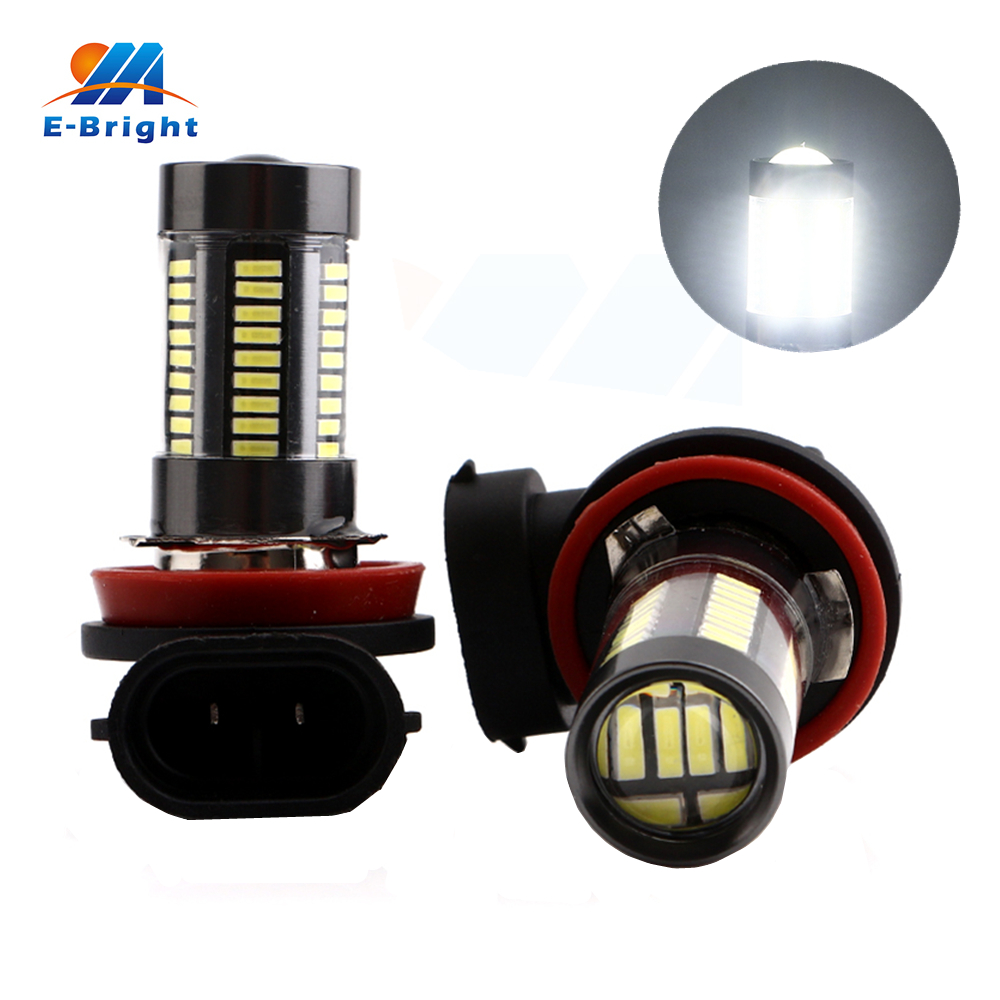 1pcs 12V 24V DC 4014 66 SMD 9005 9006 H4 H7 H11 H8 Led Fog Light Bulbs Automobiles Truck Driving Headlight Free Shipping
