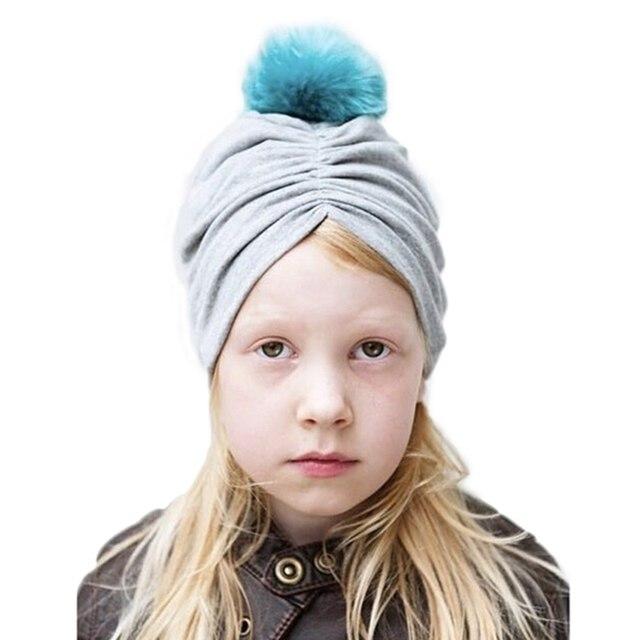 Kids Baby Boy Girl Cotton Hat Indian Crochet Knit Hairball Photography Cap  Accessories Autumn Winter Warm 458e9e03404