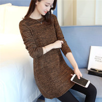 Winter 40 New Korean Version Of The Long Curling Round Flower Yarn Sweater Sleeve Head Women