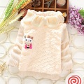 2014 winter autumn baby girl's sweaters child knitted sweater babi turtleneck fur sweater children's sweater outerwear 3 colors