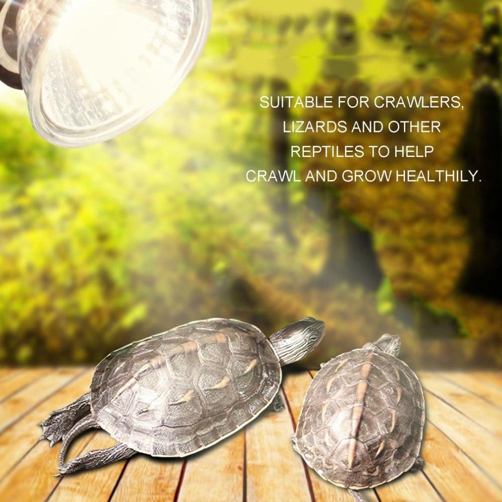 UVA+UVB Light Bulbs For Reptiles Full Spectrum Sun Ultraviolet For Reptiles Heat Lamp  50w 75w For Pet Brooder