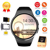 KW18 Bluetooth Smart Watch Full Screen Support SIM TF Card Smartwatch Phone Heart Rate For apple gear s2 huawei xiaomi