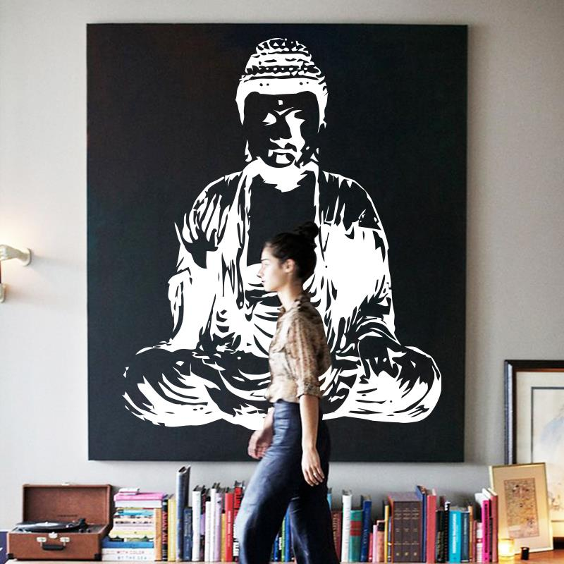 Art new Design Indian Buddha religion Wall Decal removable Vinyl Sticker home decor Mural room decoration God Asian yoga namaste